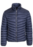 Men's Quilted Puffer Jacket with Gunmetal Zippers