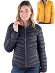 4600N-SOP5812-Women's Reversible Puffer Jacket with High Shine Zippers