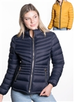 Women's Reversible Solid Puffer Jacket and High Shine Zippers