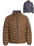 Men's Plus Size Reversible Quilted Camo Puffer Jacket