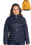 Women's Plus Size Reversible Puffer Jacket 2-Color Solid