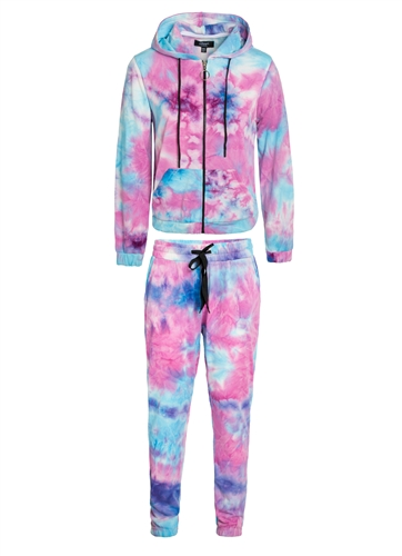 Women's Tie-Dye French Terry Joggers Set