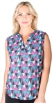 Ladies Triangle Print Sleeveless Shirt