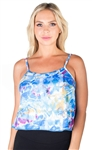 Ladies Printed Crop Tank Top