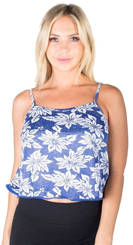 Ladies Printed Cropped Tank Top