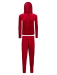 Women's Velour Long Sleeve Hoodie and Pants Set