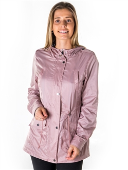 Ladies Zip Up Light Weight Nylon Anorak Jacket, Waterproof, Jersey Lined Hood, Roll Up Sleeve & Waistband String By Special One