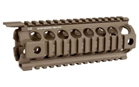 MIDWEST INDUSTRIES GEN2 2-PC DROP IN RAIL FDE- CARBINE LENGTH 7""