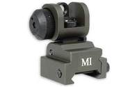 MIDWEST INDUSTRIES ERS REAR FLIP UP SIGHT- OD GREEN