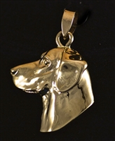 14KT GOLD LABRADOR RETRIEVER HEAD PENDANT