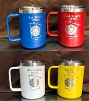 15 OZ COLORED CUPS WITH HANDLE FREE ENGRAVING