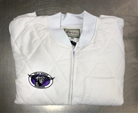 AVERY WHITE QUILTED HEAVY WEIGHT HANDLERS JACKET- CUSTOM EMBROIDERED
