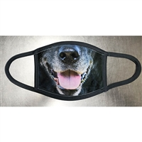 BLACK LABRADOR RETRIEVER GRAY FACE MASK