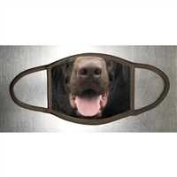 CHOCOLATE LABRADOR RETRIEVER FACE MASK
