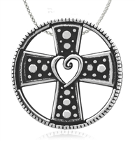 Sterling Silver Cross Paws Pendant