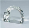 CRYSTAL DOME WITH FACETED  EDGES AWARD
