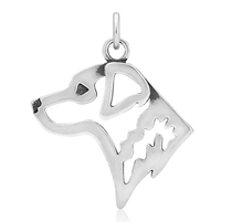 Sterling Silver Chesapeake Bay Retriever Pendant or Necklace Optional Chain