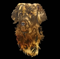 GOLDEN RETRIEVER METAL WALL SCULPTURE