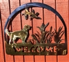 GOLDEN RETRIEVER METAL WELCOME SIGN