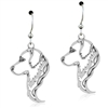 Sterling Silver Golden Retriever Head Earrings