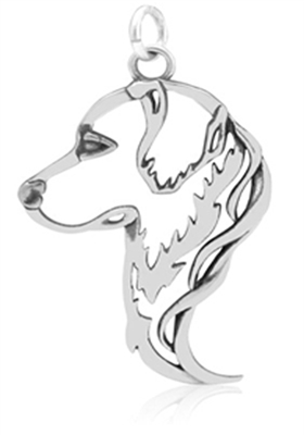 Sterling Silver Golden Retriever necklace