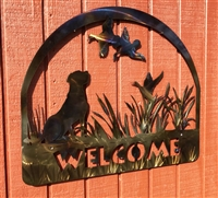 LABRADOR RETRIEVER METAL WELCOME SIGN