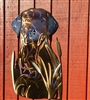 LABRADOR RETRIEVER METAL WALL SCULPTURE