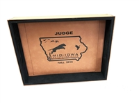 custom leather serving tray free engraving