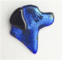 Lucky Lab Pin Blue Ribbon