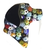 Lucky Lab Pin Black Millefiori Glass Flowers