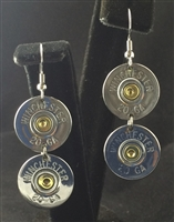 "20 Gauge Winchester Double Dangle Earring ""Silver"""