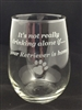 "Stemless Wine Glass ""Drink Alone"""