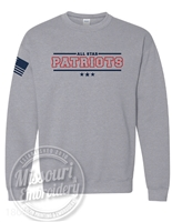 ALL STAR PATRIOT Unisex Comfy CREW- Flag