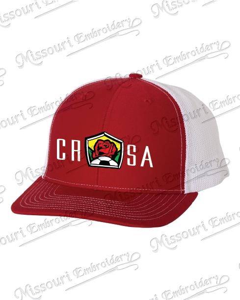CRSA RED WHITE TRUCKER CAP ce99912e11d1