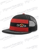 CRSA RED & BLACK STRIPED TRUCKER HAT