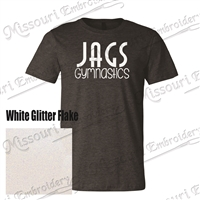 JAGS White Glitter T-shirt (SUPER SOFT)
