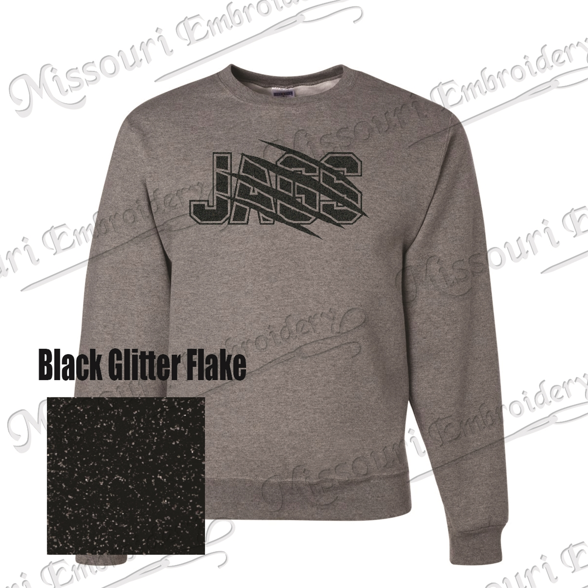 e1e4c0d8f83b JAGS SWEATSHIRT Black Glitter Design (BLING) · Larger Photo