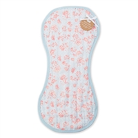BLUE ROSE BIB & BURP CLOTH