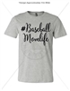 BASEBALL MOM LIFE ATHLETIC HEATHER T-SHIRT
