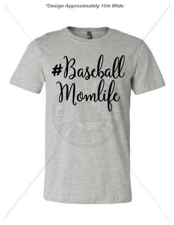Baseball Mom Life Athletic Heather T Shirt
