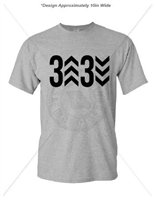 3 UP 3 DOWN DEEP HEATHER T-SHIRT