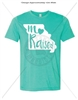MO RAISAED HEATHER SEA GREEN T-SHIRT