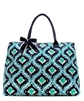 QUILTED IKAT TOTE BAG