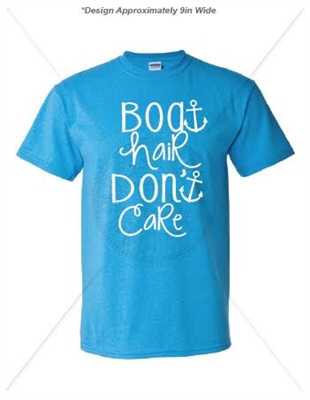 BOAT HAIR DON'T CARE LAGOON T-SHIRT