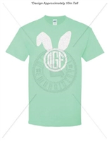 MINT T-SHIRT WITH BUNNY MONOGRAM