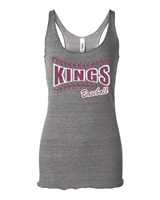 GREY TRIBLEND KINGS BASEBALL LADIES TANK