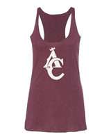 MAROON TRIBLEND AC LADIES TANK