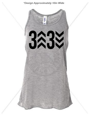 3 UP 3 DOWN ATHLETIC HEATHER TANK