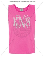NEON PINK INTERTWINED JUMBO MONOGRAM TANK