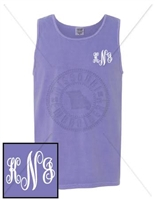 VIOLET FANCY EMB LC MONOGRAM TANK